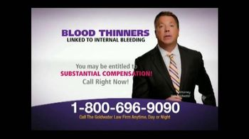 Goldwater Law Firm TV Spot, 'Blood Thinners'
