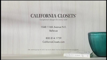 California Closets Spring Accessories Savings Event TV Spot, 'Great Styles' - Thumbnail 10