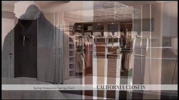 California Closets Spring Accessories Savings Event TV Spot, 'Great Styles' - Thumbnail 3