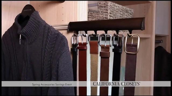 California Closets Spring Accessories Savings Event TV Spot, 'Great Styles' - Thumbnail 4