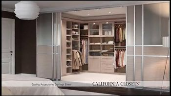 California Closets Spring Accessories Savings Event TV Spot, 'Great Styles'