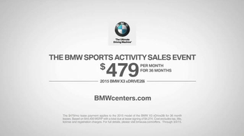 2015 BMW X3 xDRIVE28i TV Spot, 'Sports Activity Sales Event: Cute Cottage' - Thumbnail 8