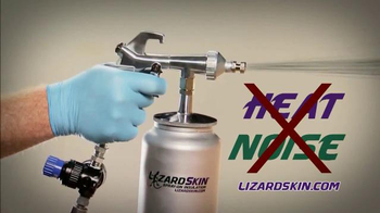 LizardSkin Spray-On Insulation TV Spot, 'Fight Noise and Heat'
