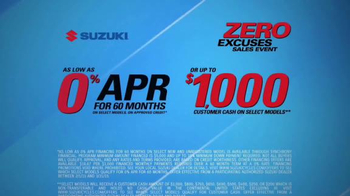Suzuki Zero Excuses Sales Event TV Spot, 'Your Next Adventure' - Thumbnail 7