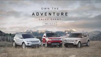 Range Rover Evoque TV Spot, 'Own the Adventure Sales Event'