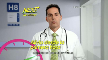 Next Allergy TV Spot, 'Síntomas de la Alergia' [Spanish]