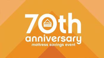 Ashley Furniture 70th Anniversary Mattress Savings Event TV Spot, 'Now' - Thumbnail 3