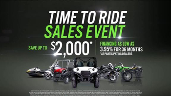 Kawasaki Time to Ride Sales Event TV Spot, 'Now's the Time to Ride' - Thumbnail 6