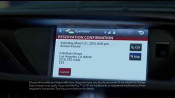 Lexus Command Performance Sales Event TV Spot, 'Come Experience' - Thumbnail 3