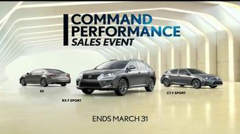 Lexus Command Performance Sales Event TV Spot, 'Come Experience' - Thumbnail 7