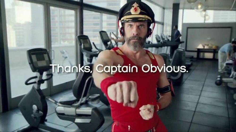 Hotels.com Spring Break Sale TV Commercial, 'Captain Obvious Workout: Bathroom'