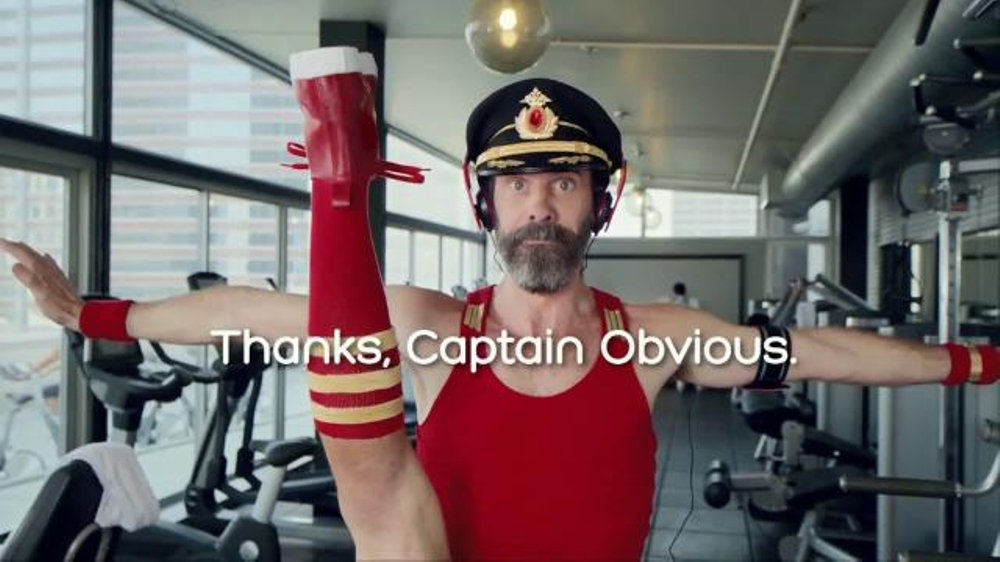 Hotels.com Spring Break Sale TV Commercial, 'Captain Obvious Workout: Leg Lift'