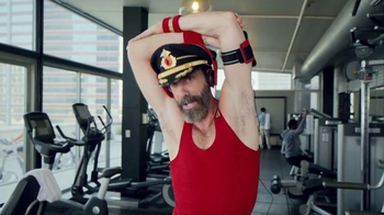 Hotels.com Spring Break Sale TV Spot, 'Captain Obvious Workout: Leg Lift' - Thumbnail 3