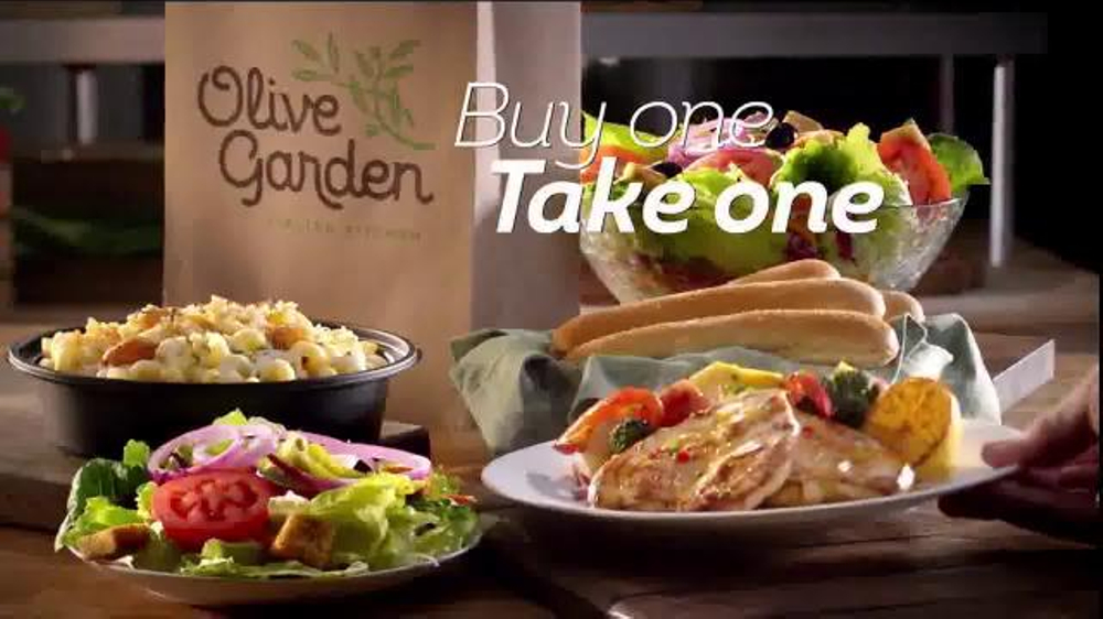 Olive garden buy one take one tv commercial 39 double the delicious 39 for Take me to the nearest olive garden