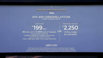2015 Jeep Cherokee Latitude TV Spot, '2015 Award Season Event' - Thumbnail 10