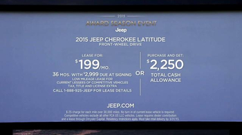2015 Jeep Cherokee Latitude TV Spot, '2015 Award Season Event' - Thumbnail 9