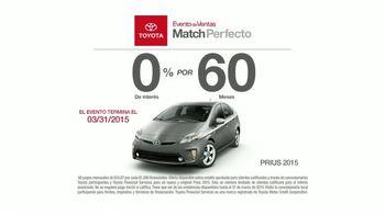 2015 Toyota Prius TV Spot, 'Evento de Ventas Match Perfecto' [Spanish] - Thumbnail 7