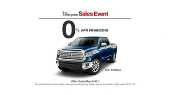 2015 Toyota Tundra TV Spot, 'One For Everyone Sales Event: Baja 1000' - Thumbnail 6