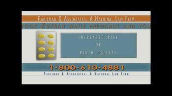 Parilman & Associates TV Spot, 'Zofran Warning'