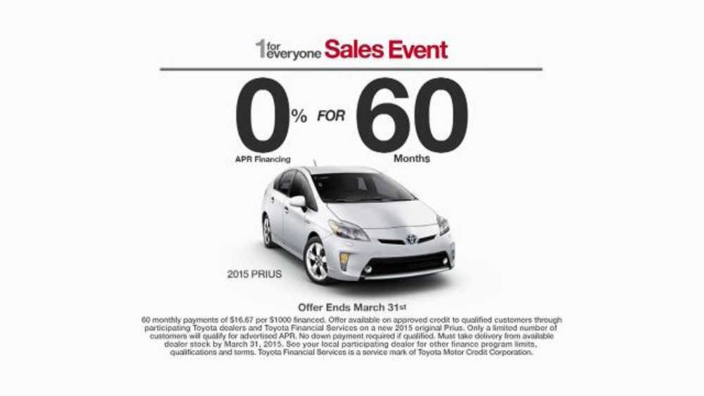 Toyota 1 for Everyone Sales Event TV Commercial, 'Career ...