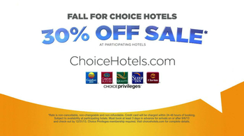 Choice Hotels TV Spot, '30% Off Sale' - Thumbnail 7