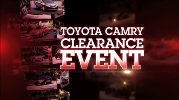 Toyota Camry Clearance Event TV Spot - Thumbnail 1