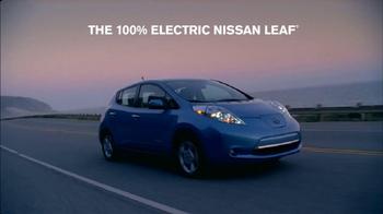 Nissan Leaf TV Spot, '100% Electric' - Thumbnail 7