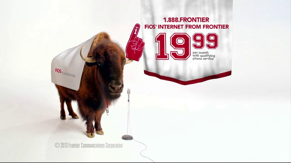 Frontier FiOS Internet TV Commercial, 'Buffalo Frank: Pep Rally'