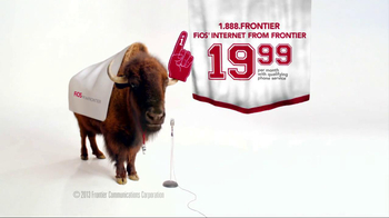 Frontier FiOS Internet TV Spot, 'Buffalo Frank: Pep Rally' - 404 commercial airings