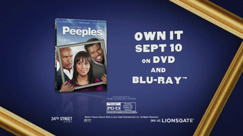Peeples Blu-ray and DVD TV Spot