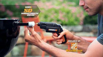 Worx SD Semi-Automatic Driver TV Spot, 'Right Tool' - 1865 commercial airings