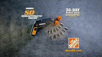 Worx SD Semi-Automatic Driver TV Spot, 'Right Tool' - Thumbnail 9