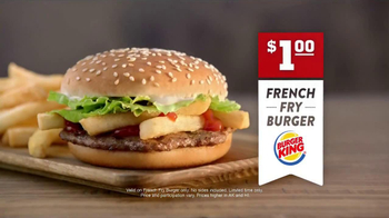 Burger King French Fry Burger TV Spot - Thumbnail 10