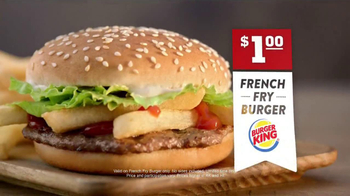 Burger King French Fry Burger TV Spot - Thumbnail 9