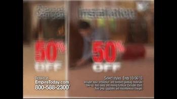 Empire Today 50/50/50 Sale TV Spot - Thumbnail 3