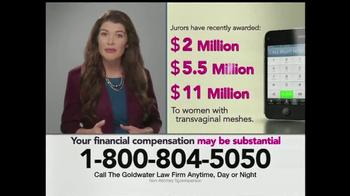 Goldwater Law Firm TV Spot, 'Vaginal Prolapse Surgery'