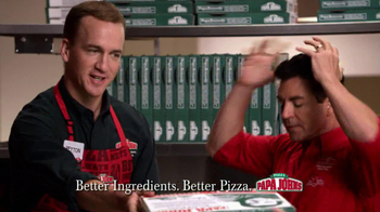 Papa John's TV Spot, 'Reporting for Duty' Featuring Peyton Manning