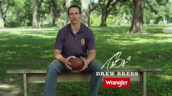 Wrangler Five-Star Premium Denim TV Spot, 'Comfort' Featuring Drew Brees - 2019 commercial airings