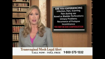 Transvaginal Mesh Legal Alert thumbnail
