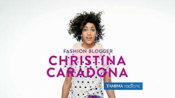 Tampax Radiant TV Spot, 'Style' Featuring Christina Caradona