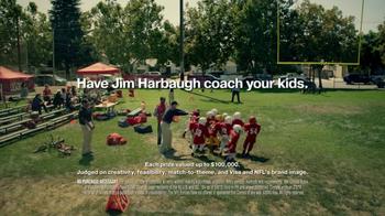 VISA TV Spot, 'Football Fantasy' Featuring Jim Harbaugh - Thumbnail 9