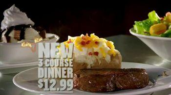 Longhorn Steakhouse 3-Course Dinner TV Spot