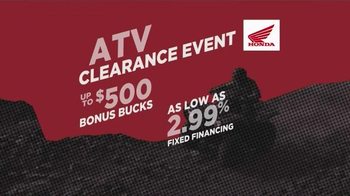 Honda ATV Clearance Event TV Spot, 'Save Green' - Thumbnail 10