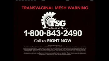 The Sentinel Group TV Spot, 'Transvaginal Mesh'