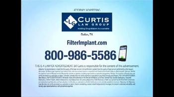 Curtis Law Group TV Spot, 'Blood Clot Filter' - Thumbnail 7