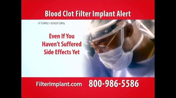 Curtis Law Group TV Spot, 'Blood Clot Filter' - Thumbnail 5