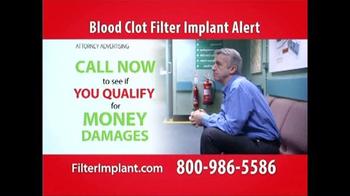 Curtis Law Group TV Spot, 'Blood Clot Filter' - Thumbnail 6