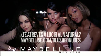 Maybelline New York The Blushed Nudes TV Spot, 'Lucir al natural' [Spanish] - 309 commercial airings