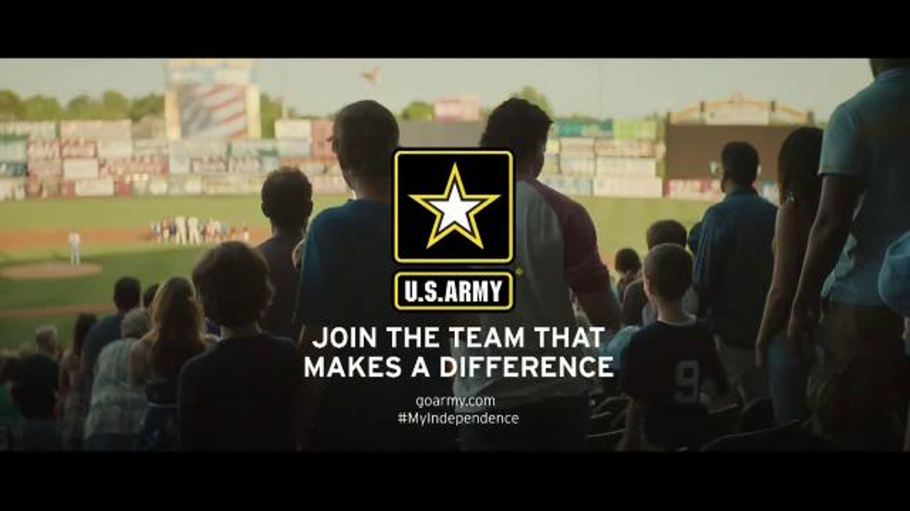 us army tv commercial   u0026 39 moment of independence  baseball game u0026 39