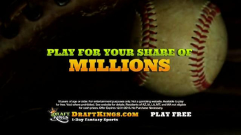 DraftKings TV Spot, 'Millionaire Maker: Step Up to the Plate' - Thumbnail 6